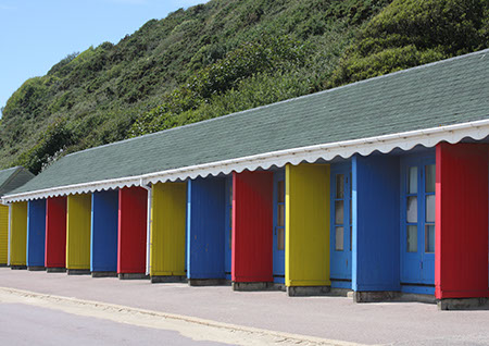 Colourful beach huts - Date Taken 16 Jun 2011
