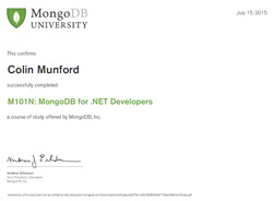 MongoDB For .NET Developers